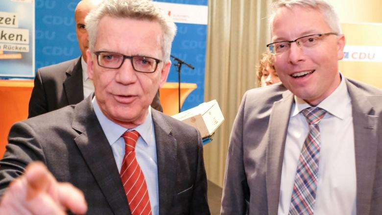 Mit Bundesinnenminister Thomas de Maizière