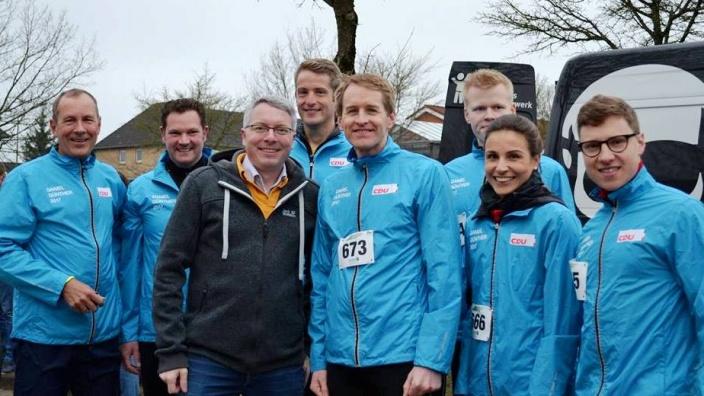 Mit CDU-Spitzenkandidat Daniel Günther und Team in Flensburg