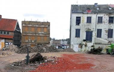 Projekt Kayser's Hof vor dem Neubau des Hotels Hafen Flensburg