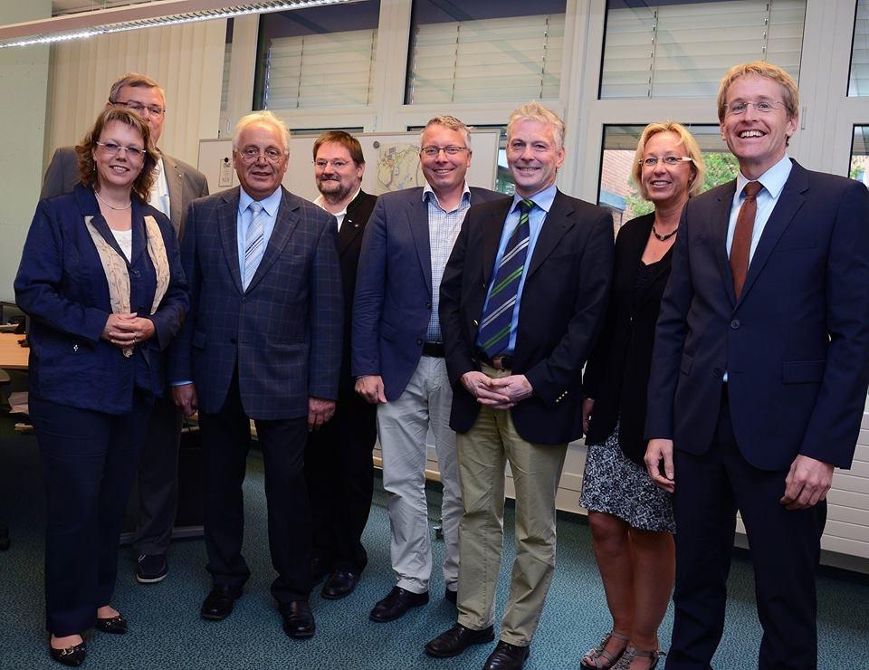 Vertreter der CDU-Fraktionen aus Stadt und Land bei der Hochschule