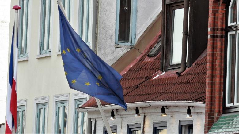 Europaflagge am Flensburger Hafen