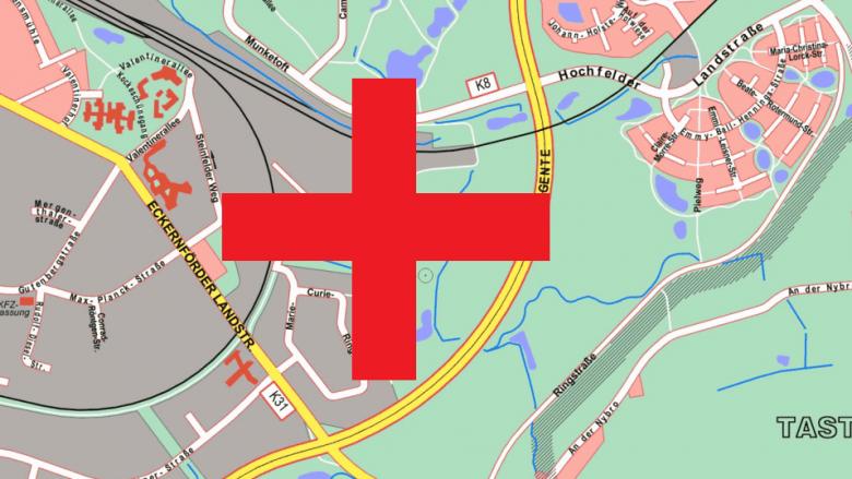 Krankenhausstandort gefunden