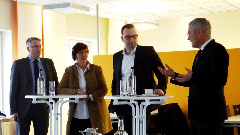 Mit Jens Spahn, MdB, in Flensburg
